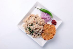 GINGER AND PEPPER CHITRANNAM WITH SAGO VADA